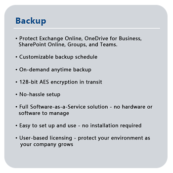 Backup features