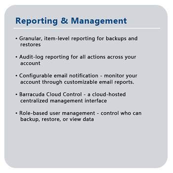 reporting features